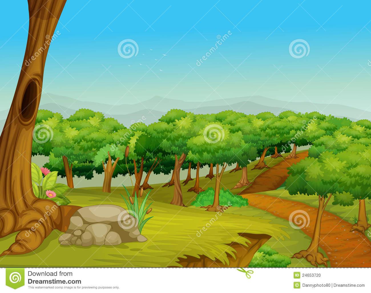 Clip art images panda. Land clipart forest way