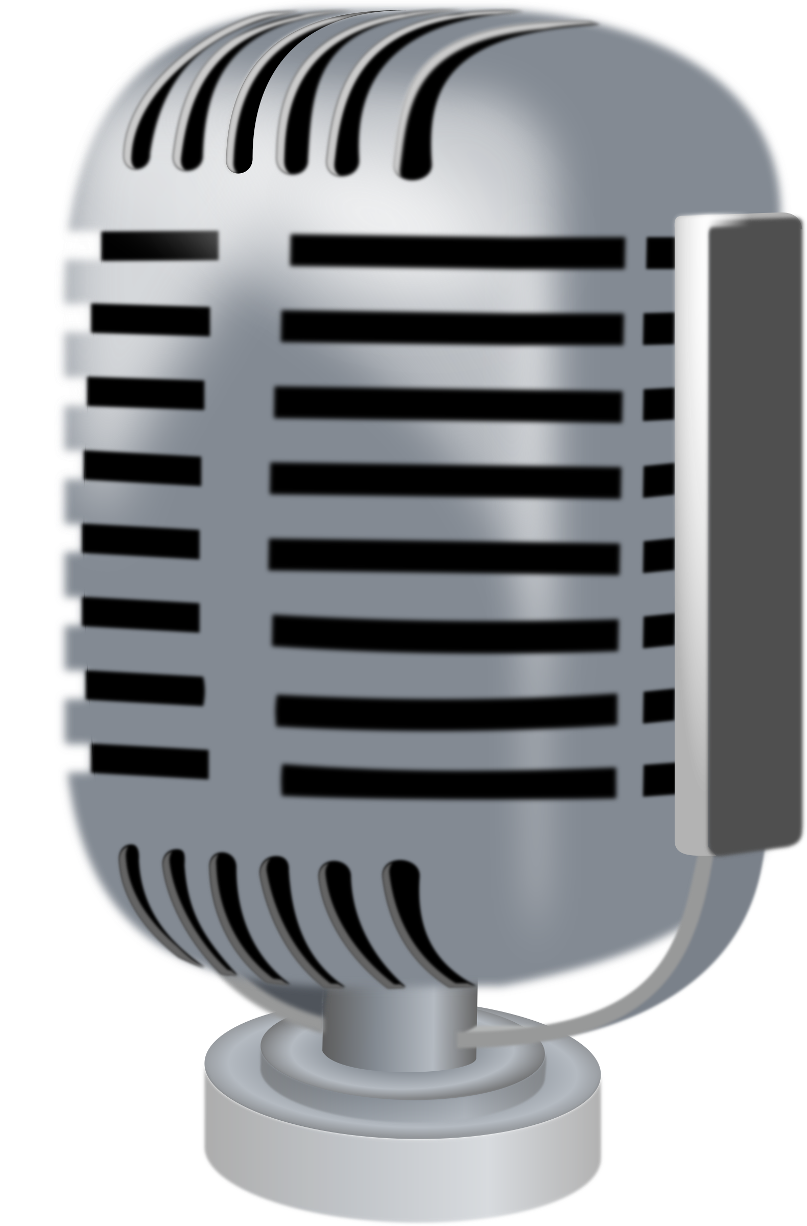 Old style big image. Air clipart microphone