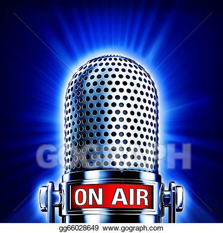 Air clipart microphone. Stock illustrations with on