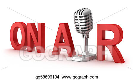 Air clipart microphone. Stock illustration on word