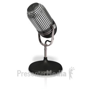 Radio mic on the. Air clipart microphone