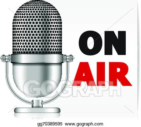 Eps vector on stock. Air clipart microphone
