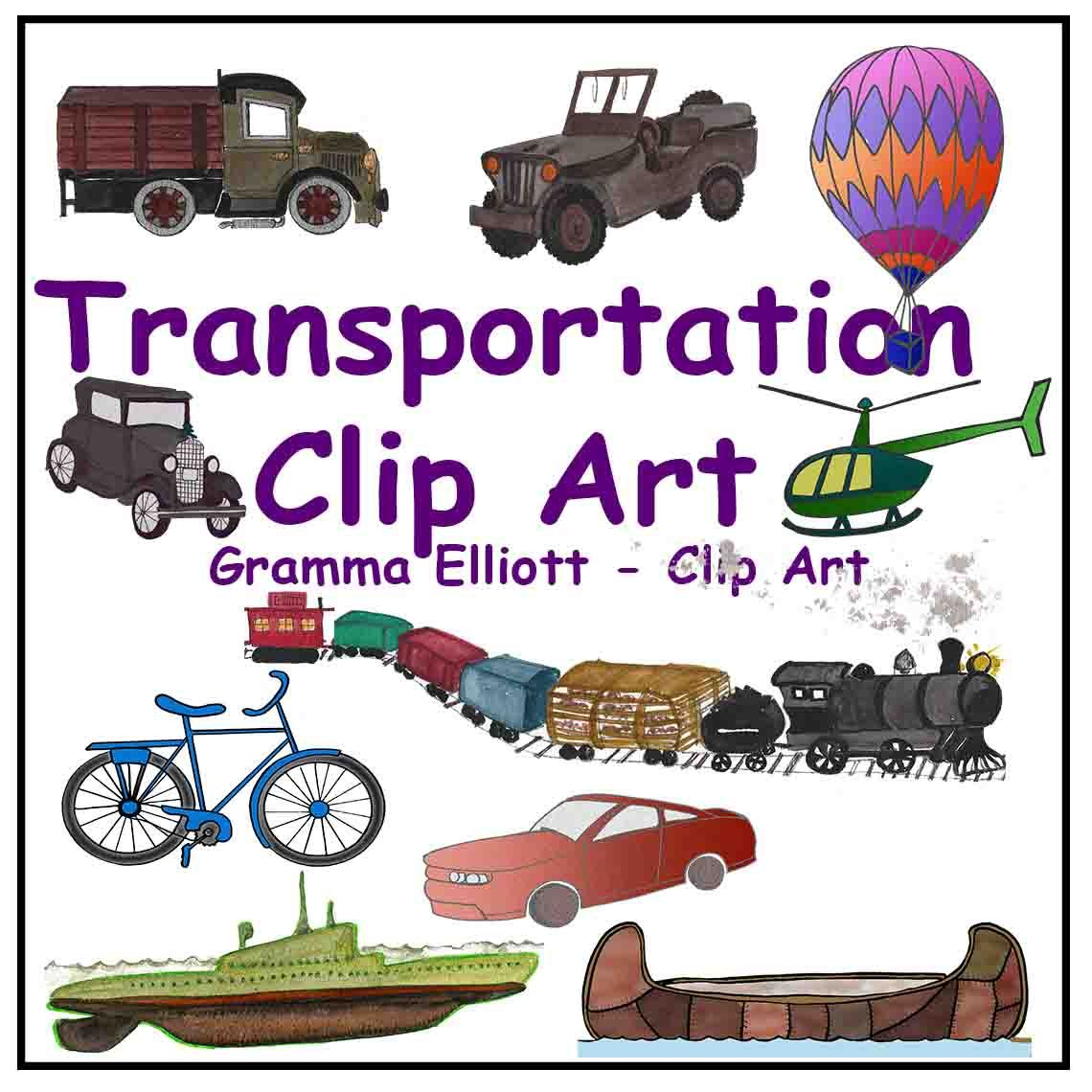 Clip art train boat. Bike clipart transportation