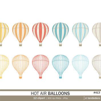 Air clipart pop art. Hot balloon pack quot