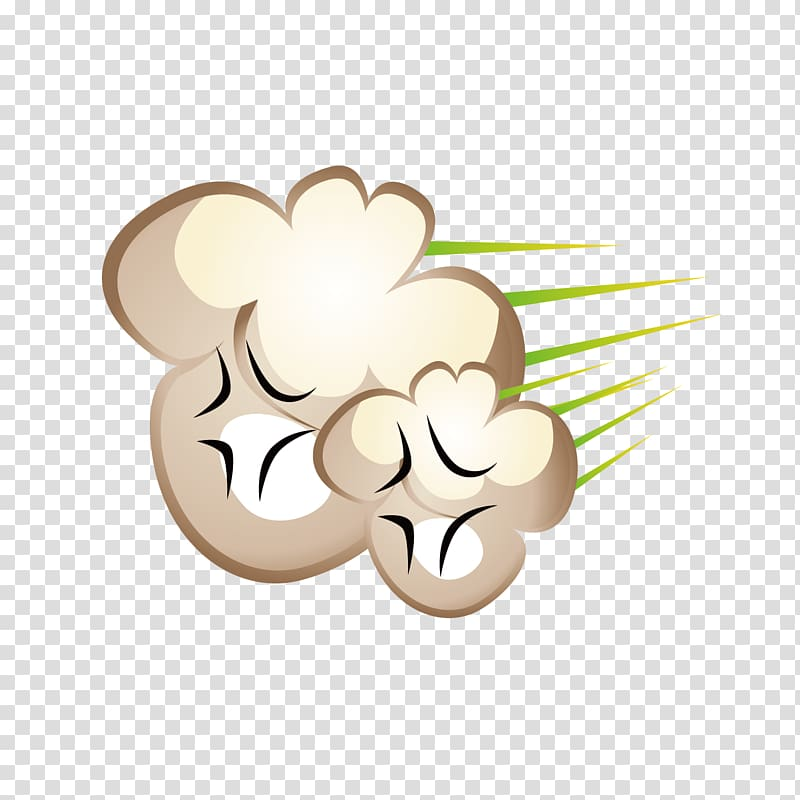 Brown and white puff. Fart clipart air