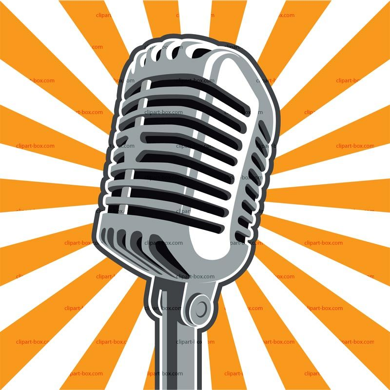 Microphone clipart painting. Radio clip art free