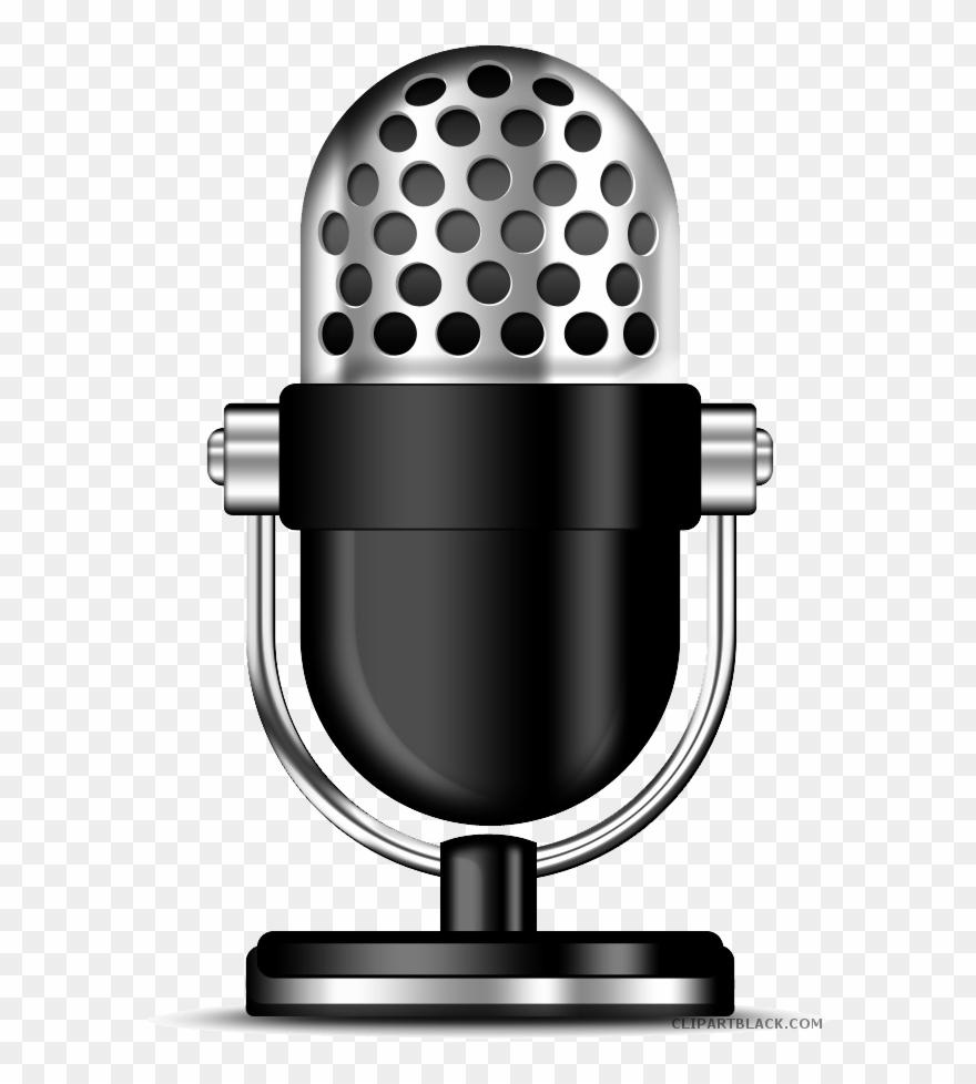 Air clipart radio mic. Microphone black and white