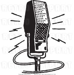 Show mic logo png. Air clipart radio microphone