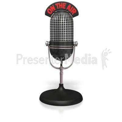 Mic on the presentation. Air clipart radio microphone