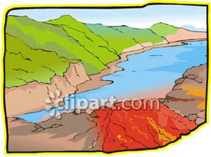 Air clipart river flow. Lava flowing into a
