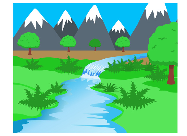 collection of river. Lake clipart creek