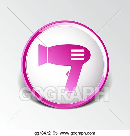 Air clipart sign. Vector art hairdryer icon