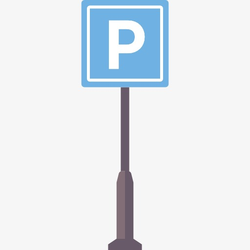 Parking mark lot open. Air clipart sign