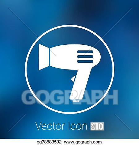 Vector art hairdryer icon. Air clipart sign