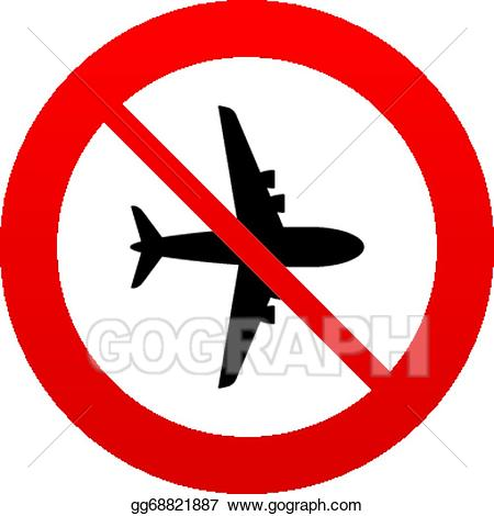 Air clipart sign. Vector stock no airplane