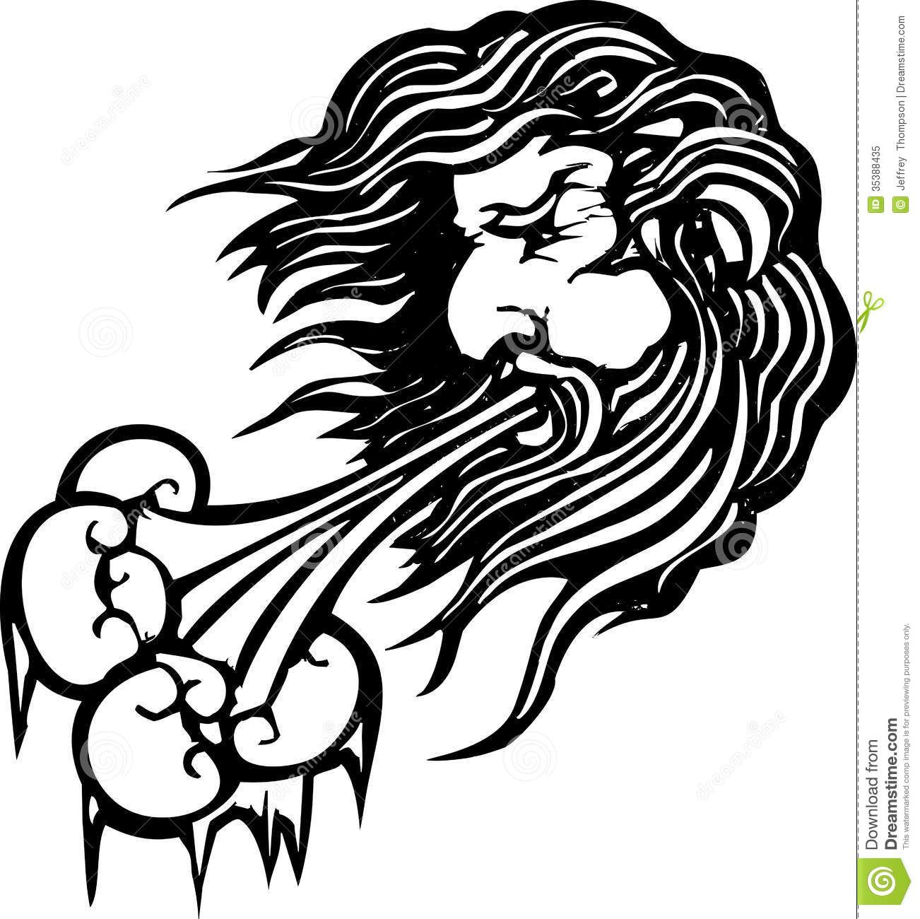 North tats blowing sun. Air clipart strong wind