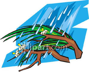 Branches bending at the. Air clipart strong wind