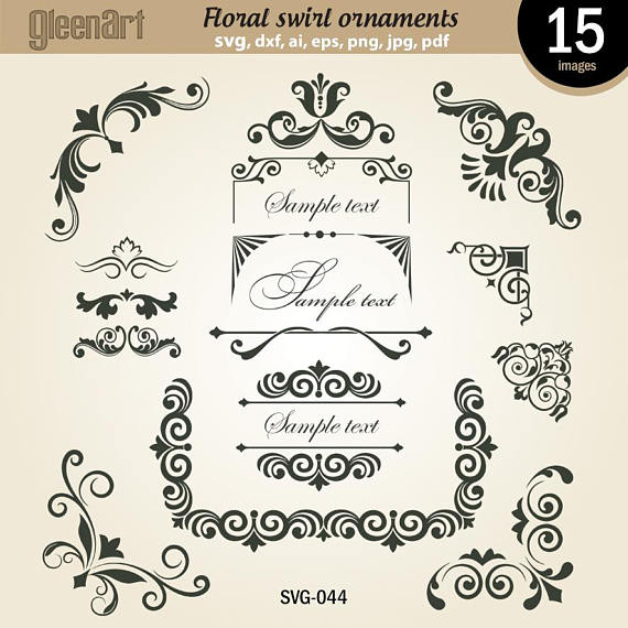 Flower ornaments frame floral. Air clipart swirl