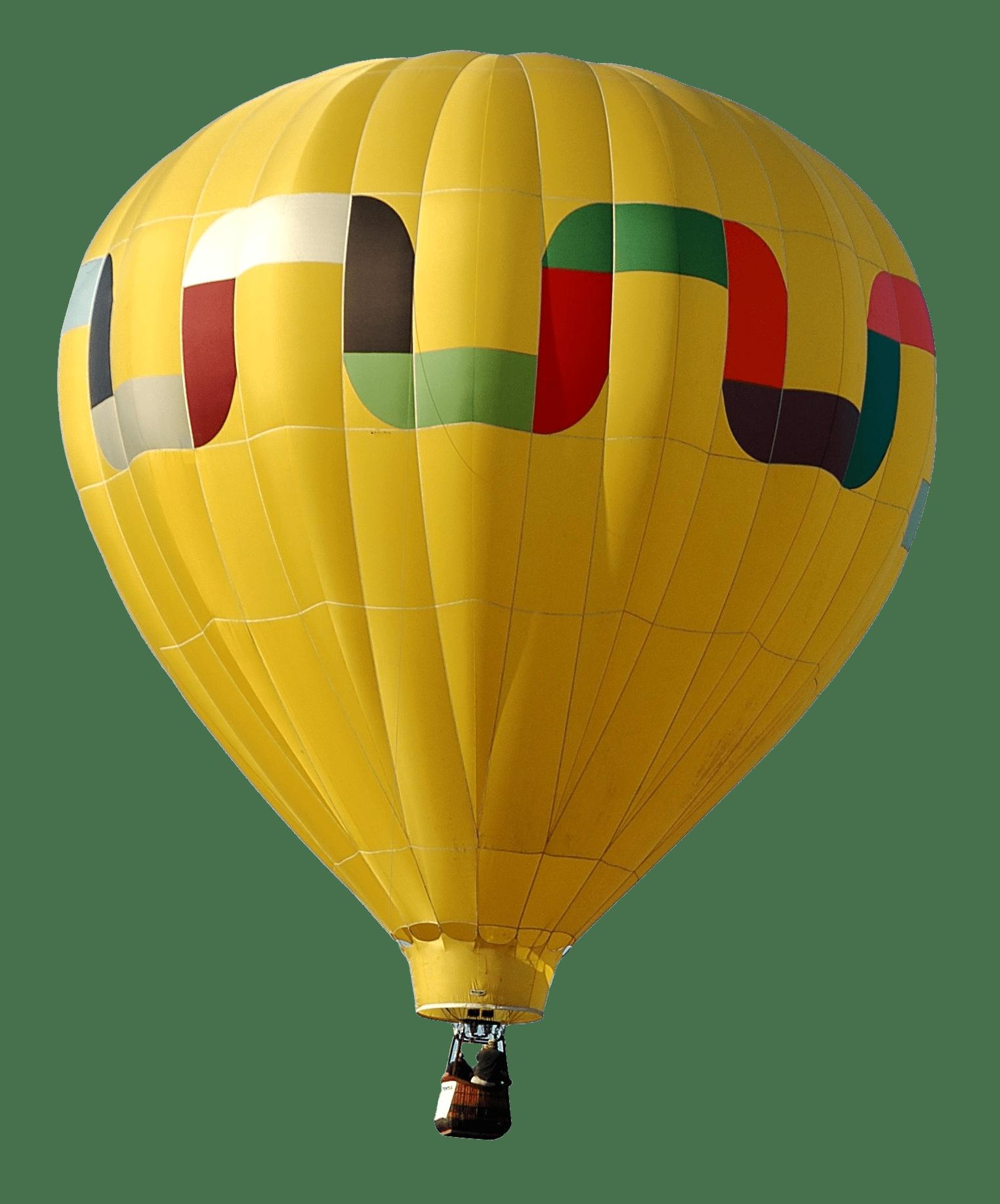 Yellow hot air balloon. Clipart balloons vintage