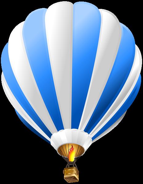 Hot balloon blue png. Air clipart transparent
