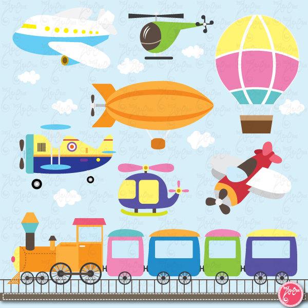 Transportation clip art cute. Air clipart transportations