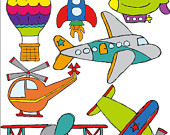 Items similar to in. Air clipart transportations