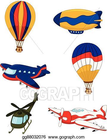 Transportation clipart air transportation. Vector art set cartoon