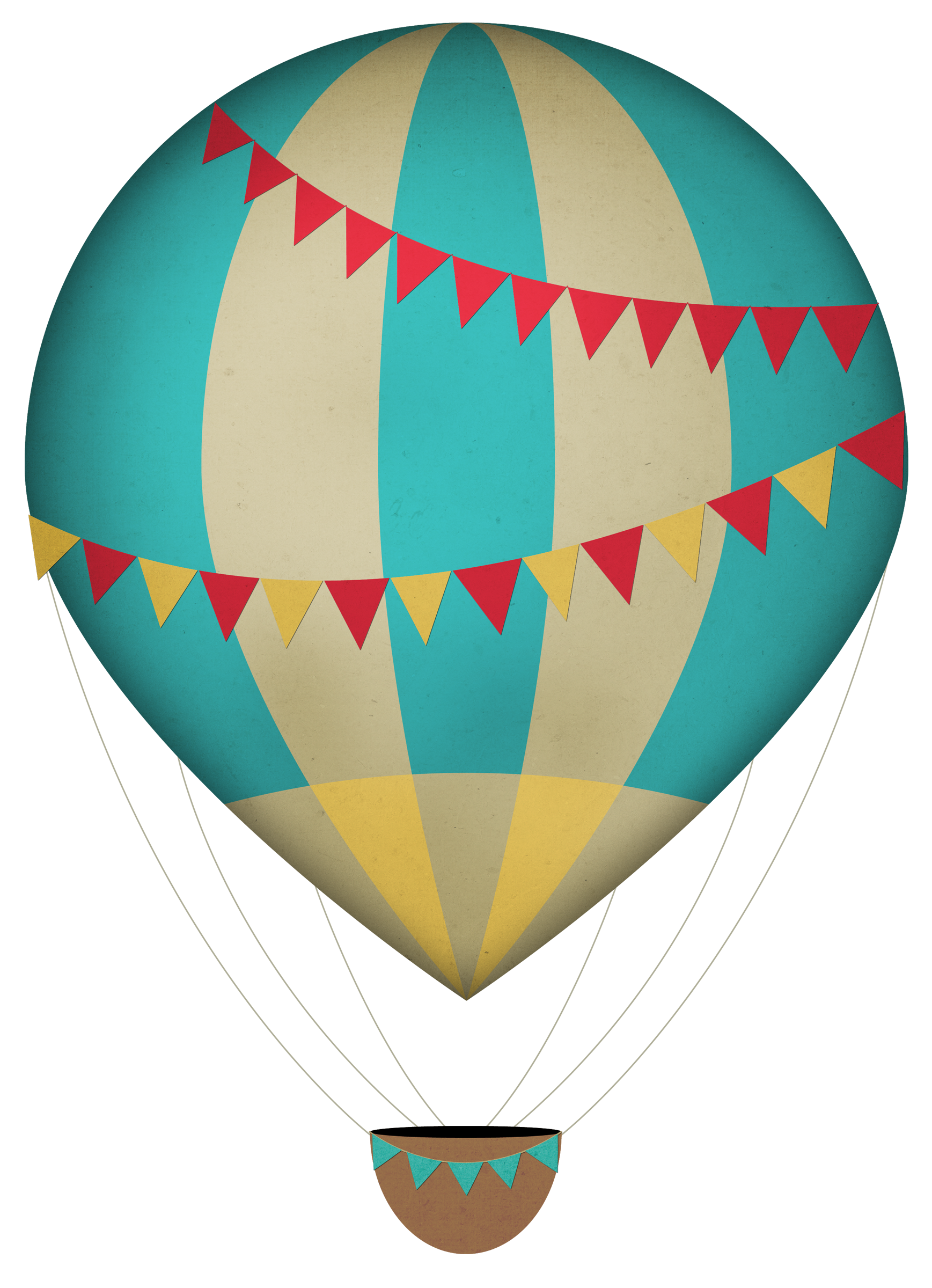 Hot balloon panda free. Air clipart vintage