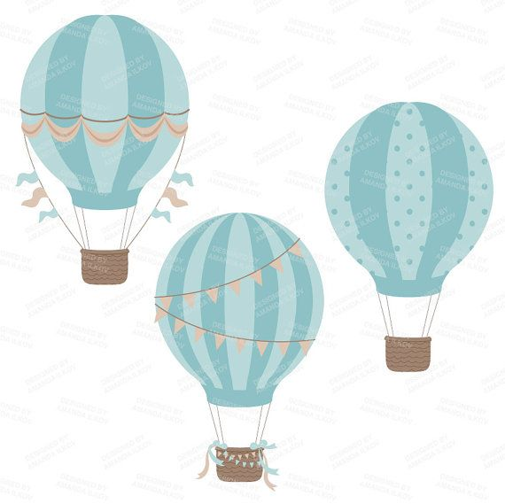 Boy hot balloons with. Air clipart vintage