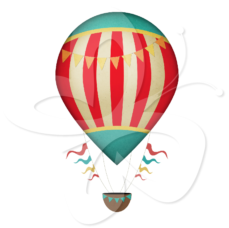 Air clipart vintage. Hot balloons panda free