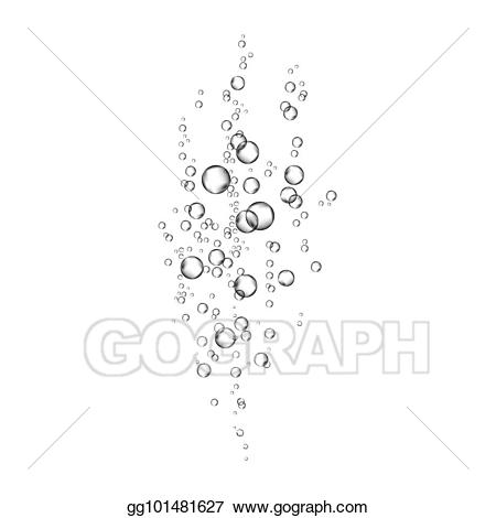 Air clipart water flow. Vector art realistic bubbles