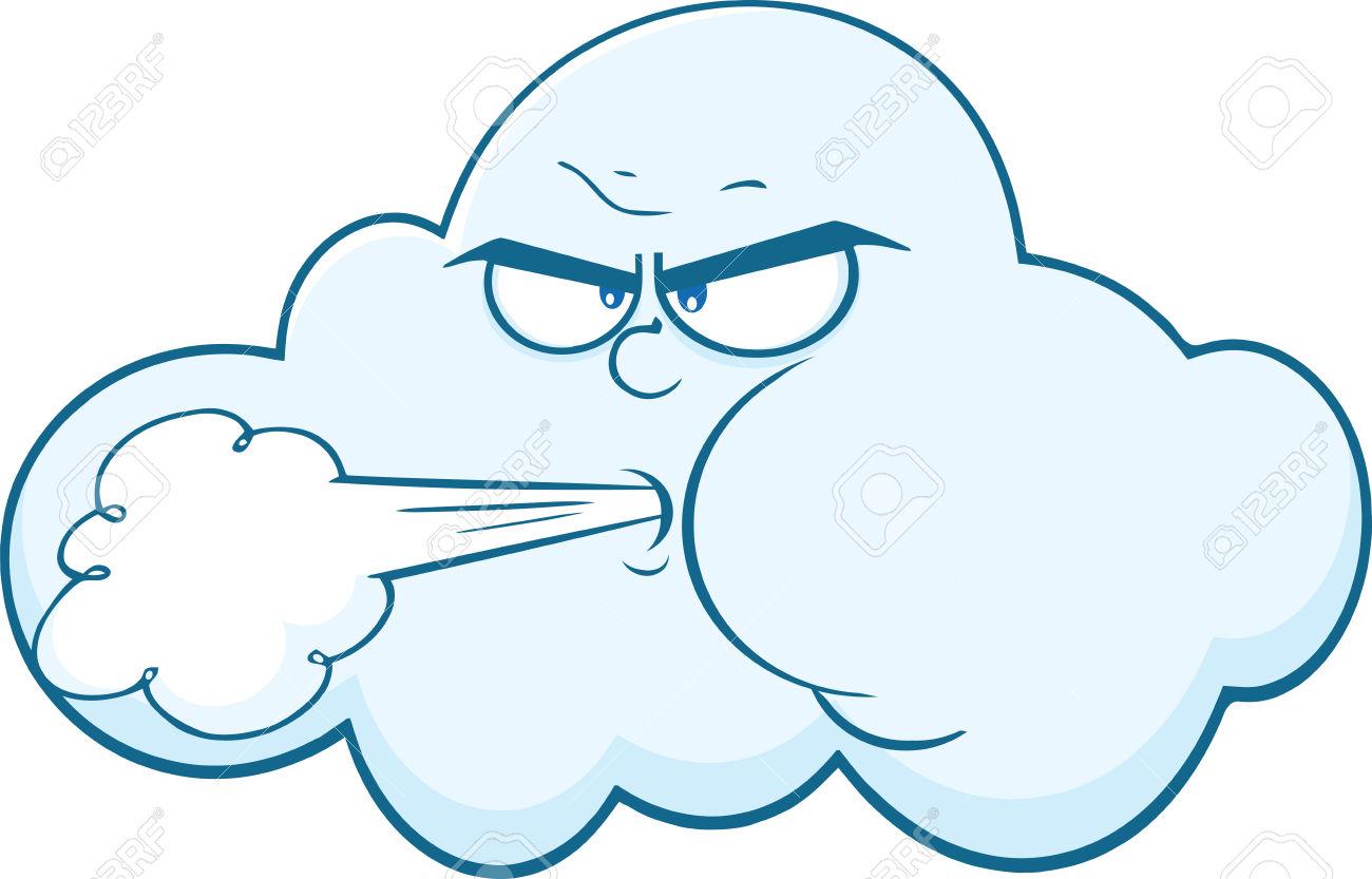 Air clipart wind. Cartoon of