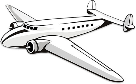 Free aircraft gifs animations. Airplane clipart