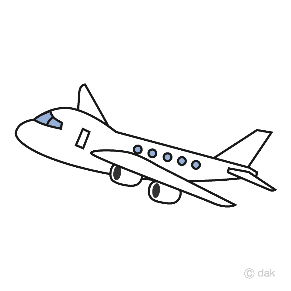 Airplane clipart. Simple free picture illustoon