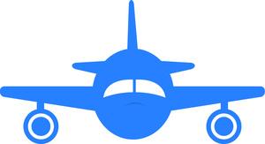 Free airplane image jet. Biplane clipart blue