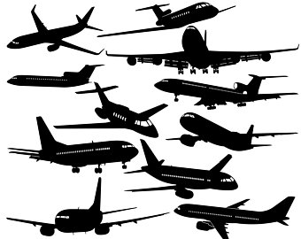 Plane illustration etsy svgairplane. Biplane clipart silhouette