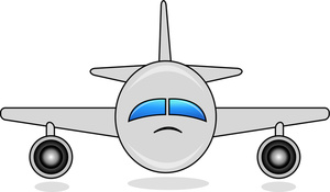 Biplane clipart front. Free airplane image commerical