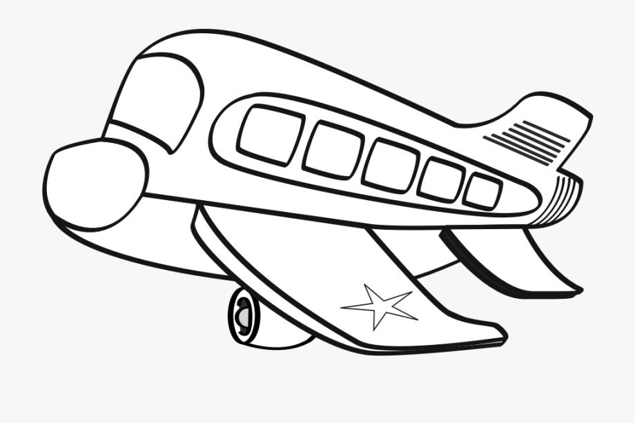 Biplane clipart black and white. Funny airplane cartoon plane