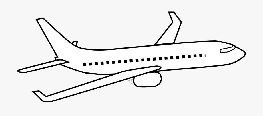 Airplane clipart black and white, Airplane black and white ...
