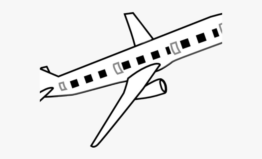 Black Airplane Clipart Transparent Background