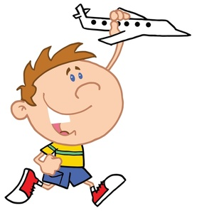 Free child playing image. Young clipart toy airplane