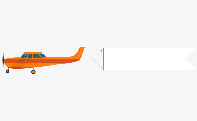 A cartoon plane pulls. Clipart airplane flag