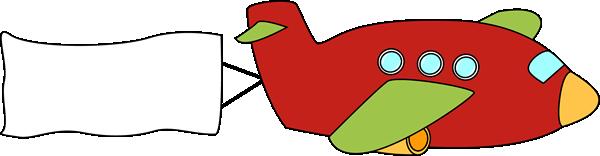 Clipart plane banner. Airplane clip art image