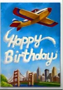 Plane clipart happy birthday. Fly high on your