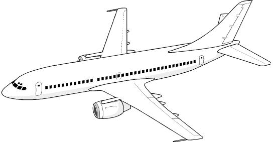 Airplane clip art free. Jet clipart printable