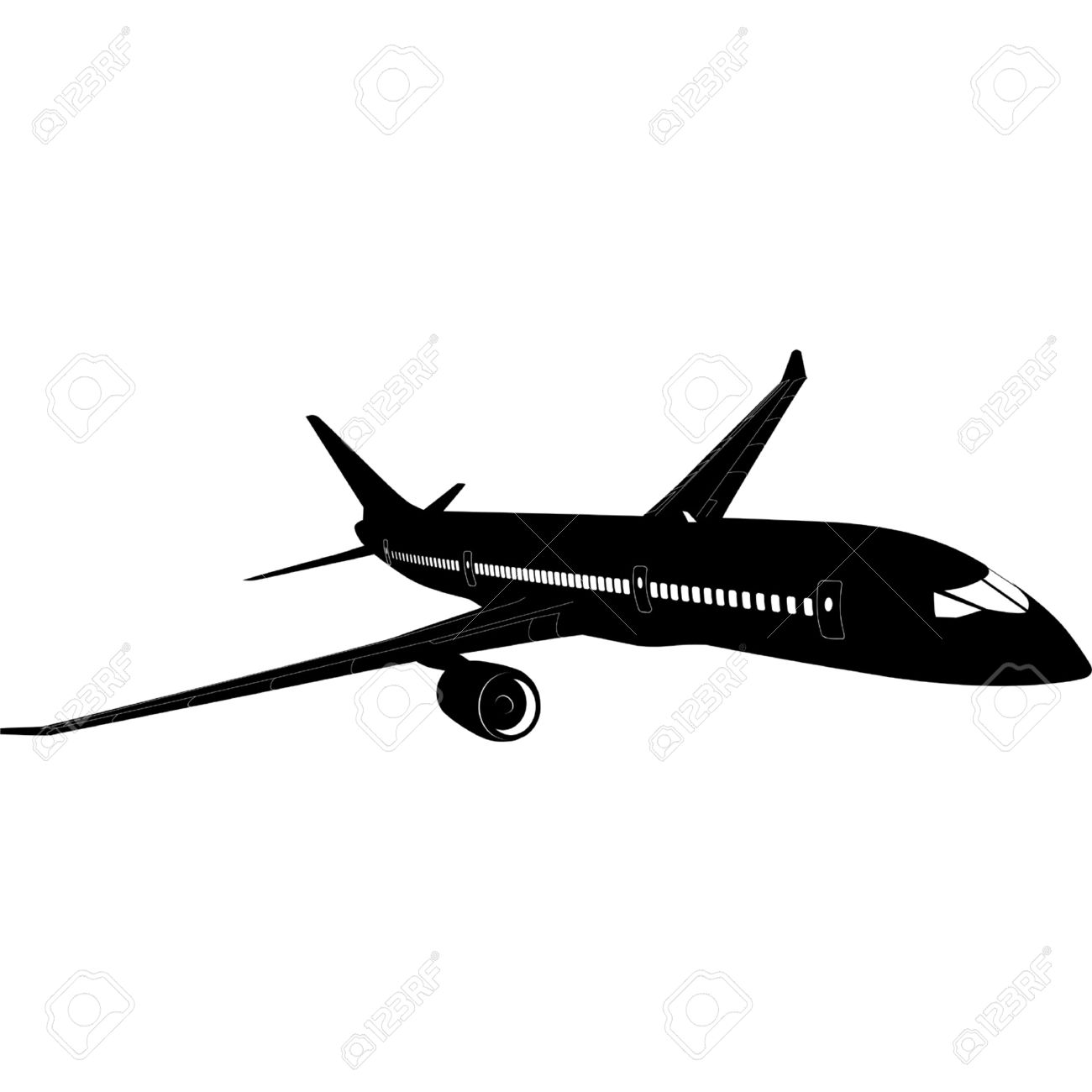 Airplane clipart jetliner. Airplanes silhouette at getdrawings