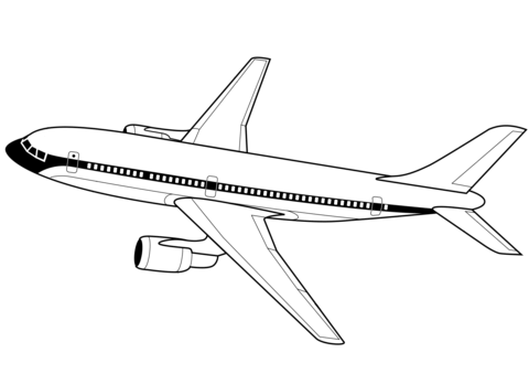 Airplane clipart jetliner. Airplanes coloring pages free