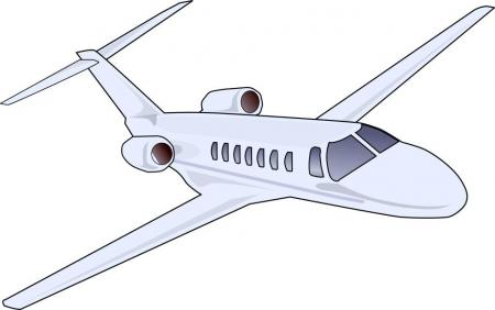 Boeing silhouette design droide. Airplane clipart jetliner