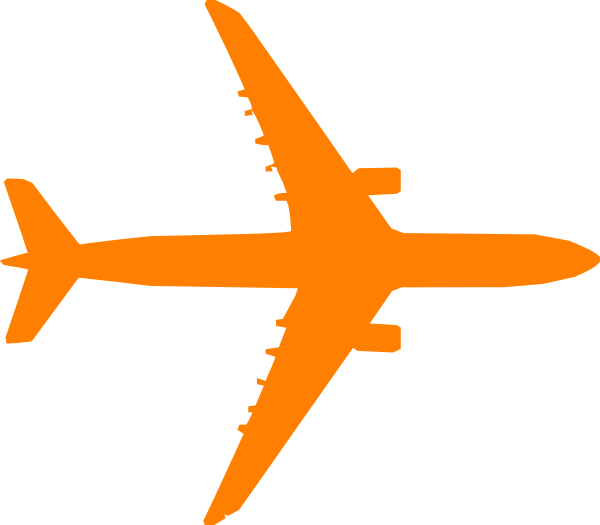 Orange plane clip art. Dot clipart airplane
