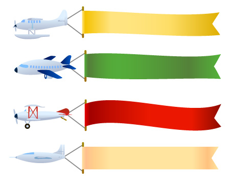 Airplane clipart message. With banner free download